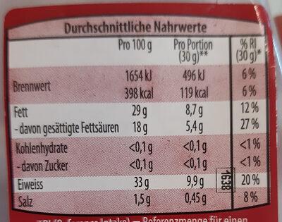 Grana Padano 15 Monate - Nutrition facts - de
