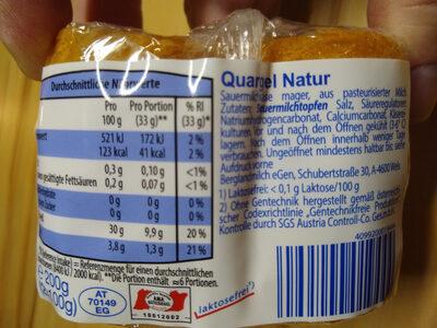 Quargel, Natur - Ingredients - de
