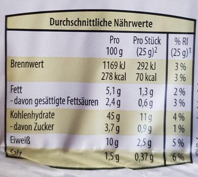 Vollkorn-Buttertoast - Nutrition facts