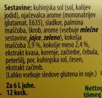 Koncentrat za kokošjo bistro juho - Ingredients