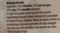 Feinste Nuss-variation - Ingredienti - fr