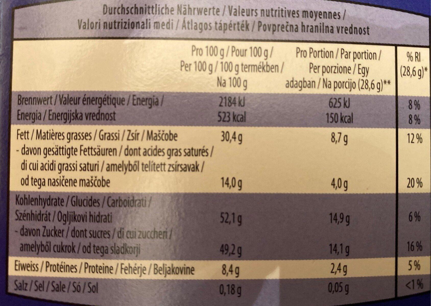 Choceur - Informations nutritionnelles - fr
