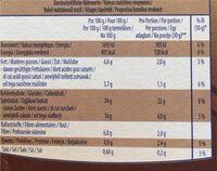 Fit&Crunch - Informació nutricional - fr