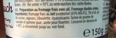 Préparation fromage frais - Ingredients - fr