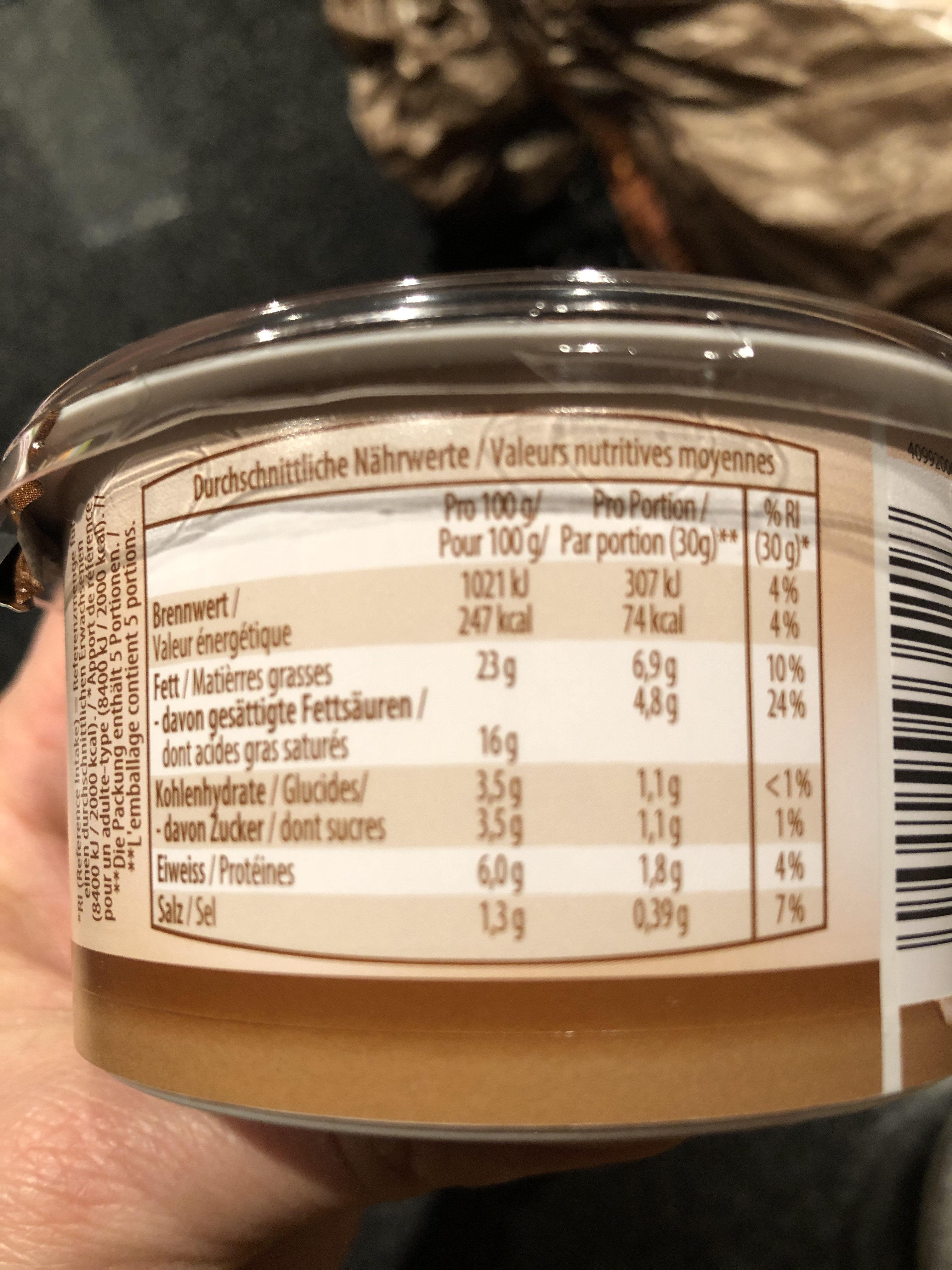 Walnuss, préparation au fromage frais avec noix - Valori nutrizionali - de
