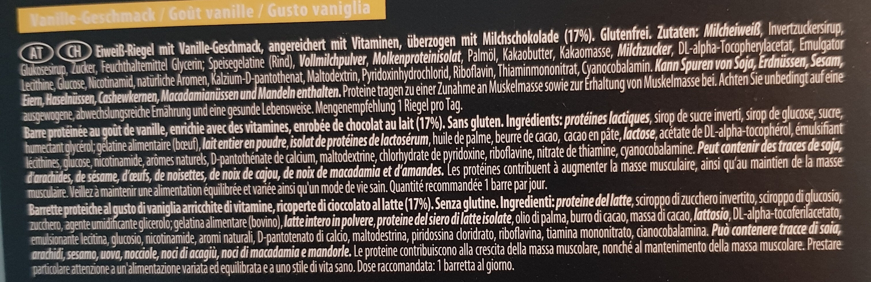 Protein riegel - Ingredients