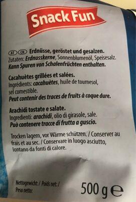 Cacahuètes Jumbo grillées et salées - Ingredienti - fr