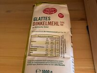Glattes Dinkelmehl 700 - Nutrition facts - de