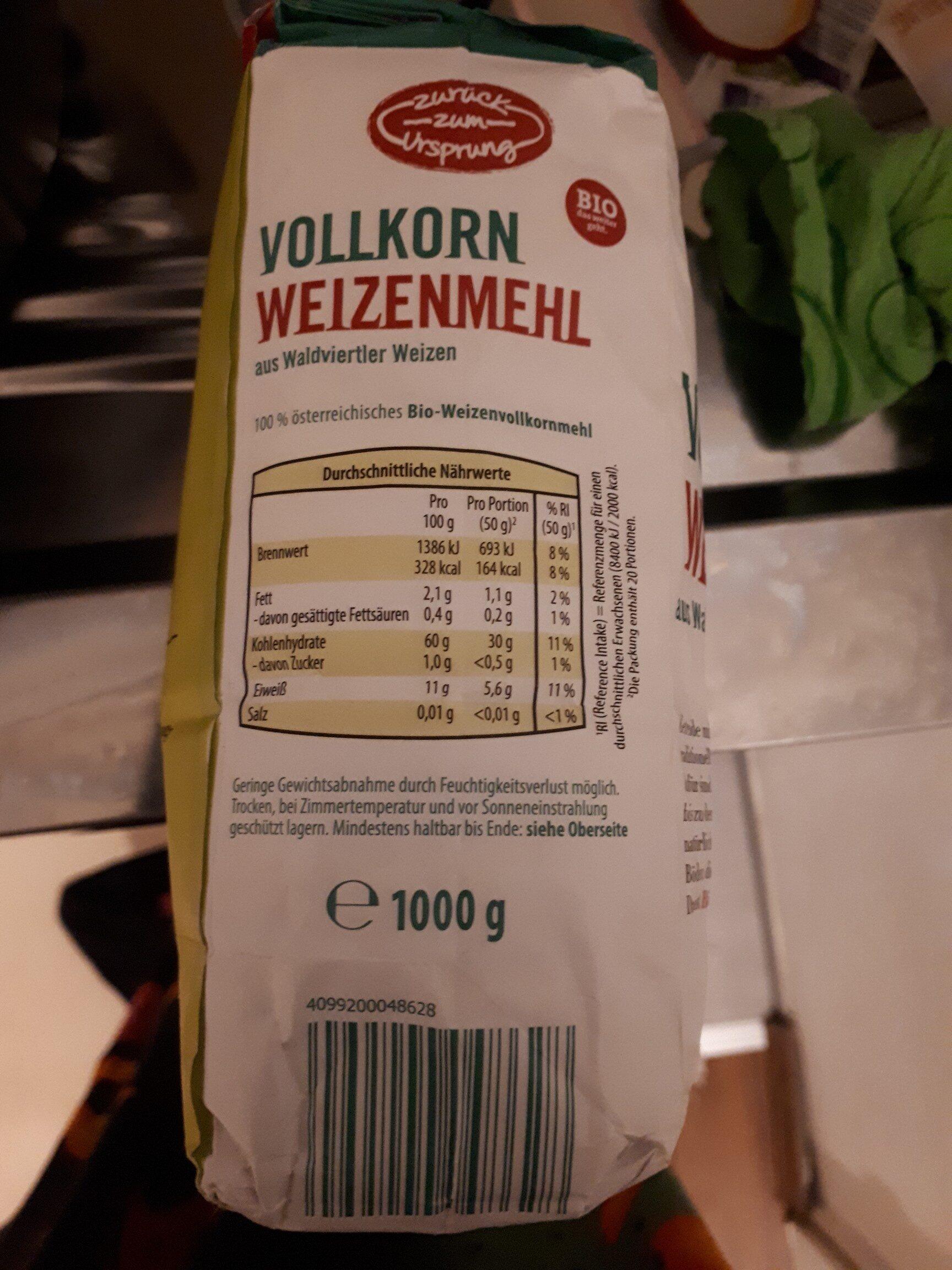 Vollkorn Weizen Mehl - Product - en