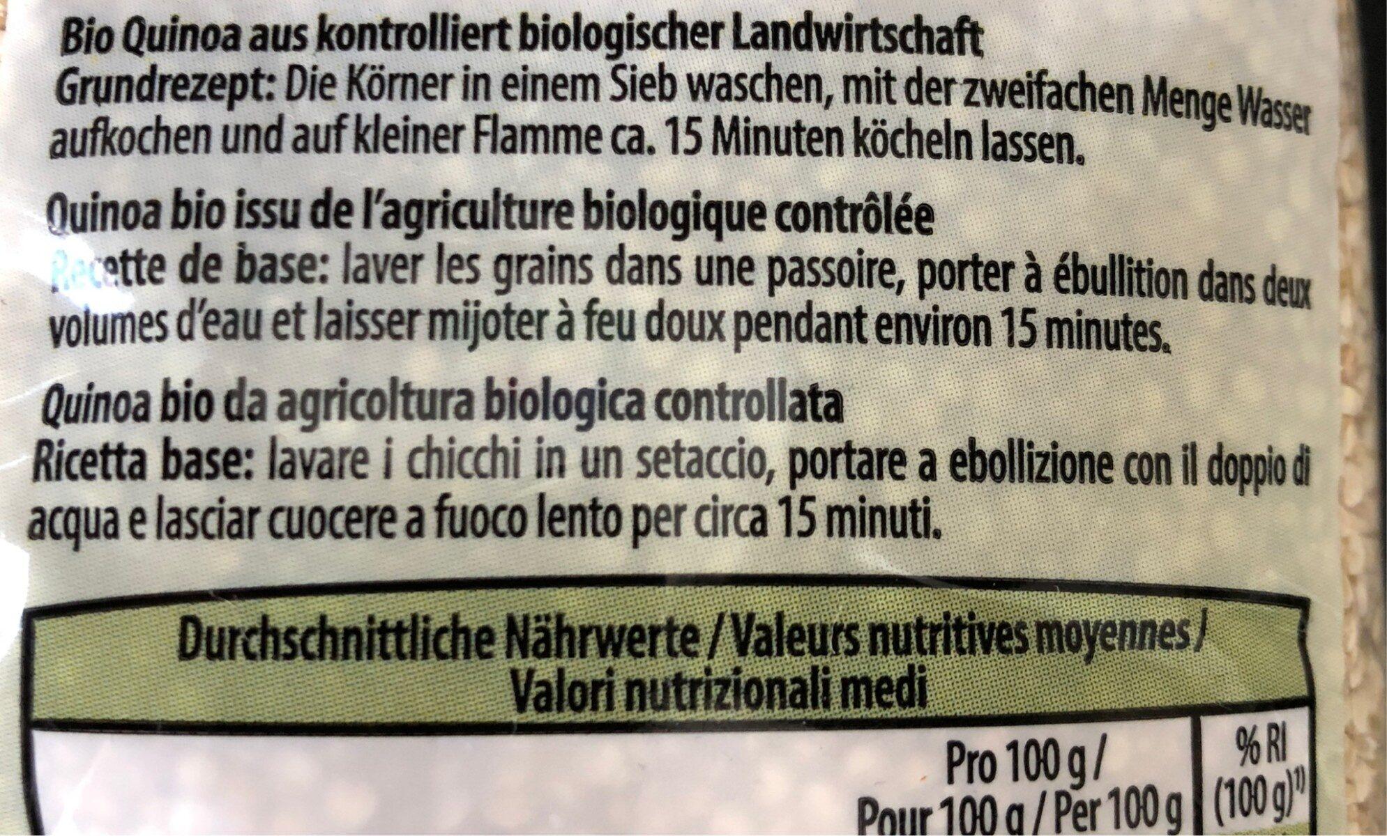 Quinoa bio - Ingredients