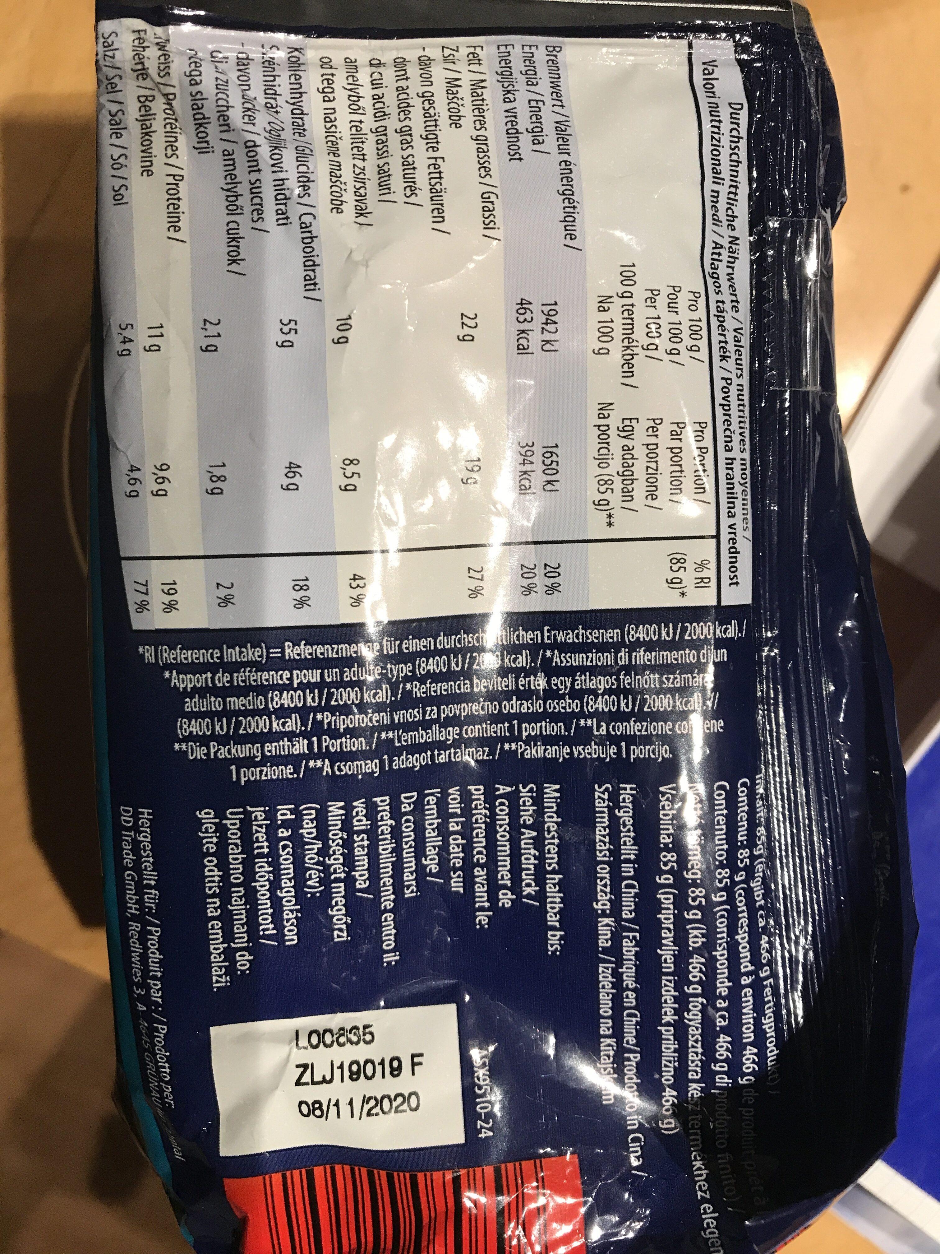 ASIA Instant Nudeln - Valori nutrizionali - de