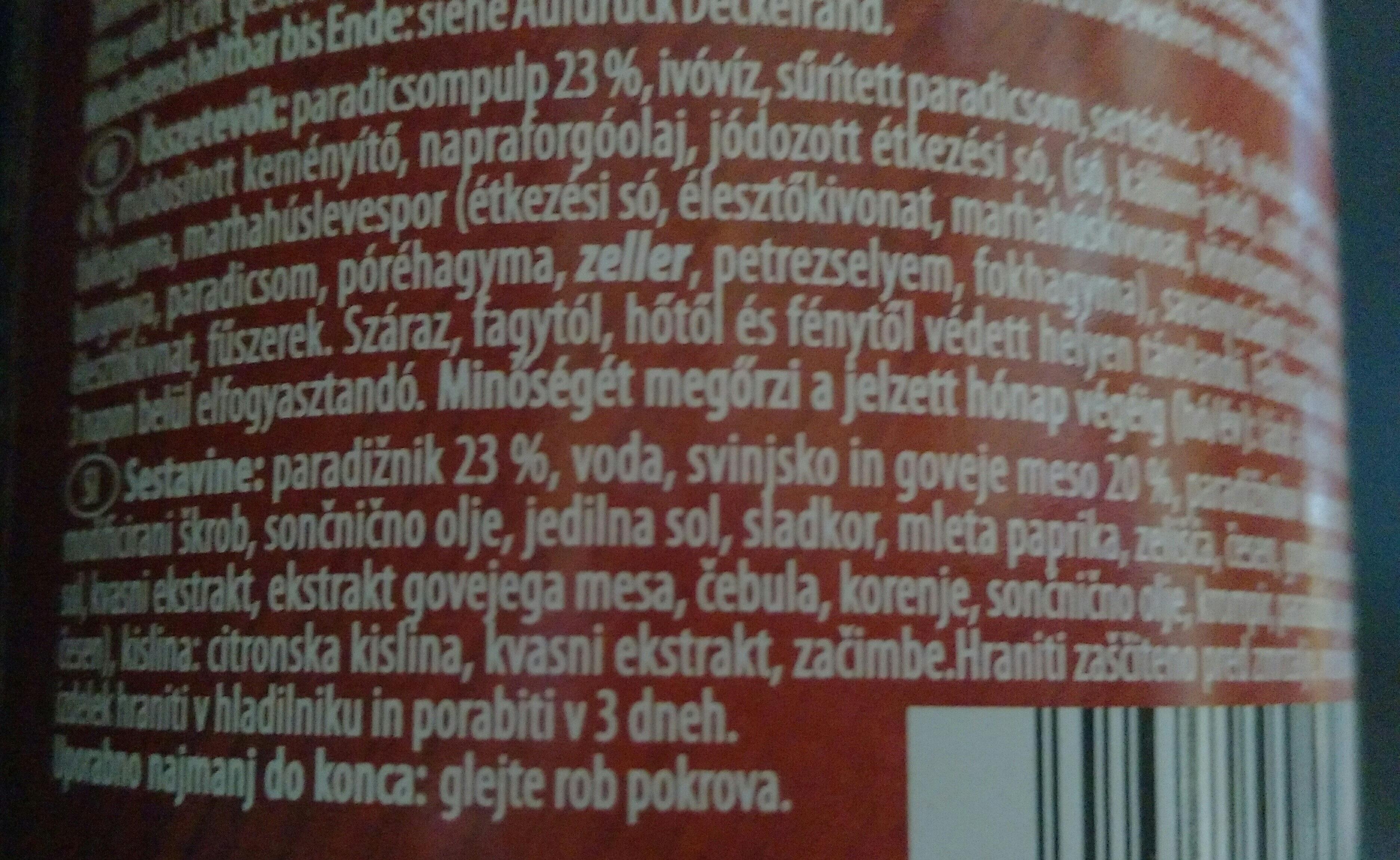 Bolognese SUGO - Ingredientes - sl