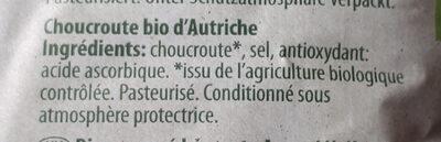 BIO Choucroute d'Autriche - Ingredients - fr