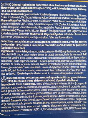 Panettone avec chocolat - Ingredienti - fr