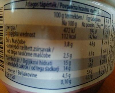Mousse auf Frucht Kirsche - Nutrition facts
