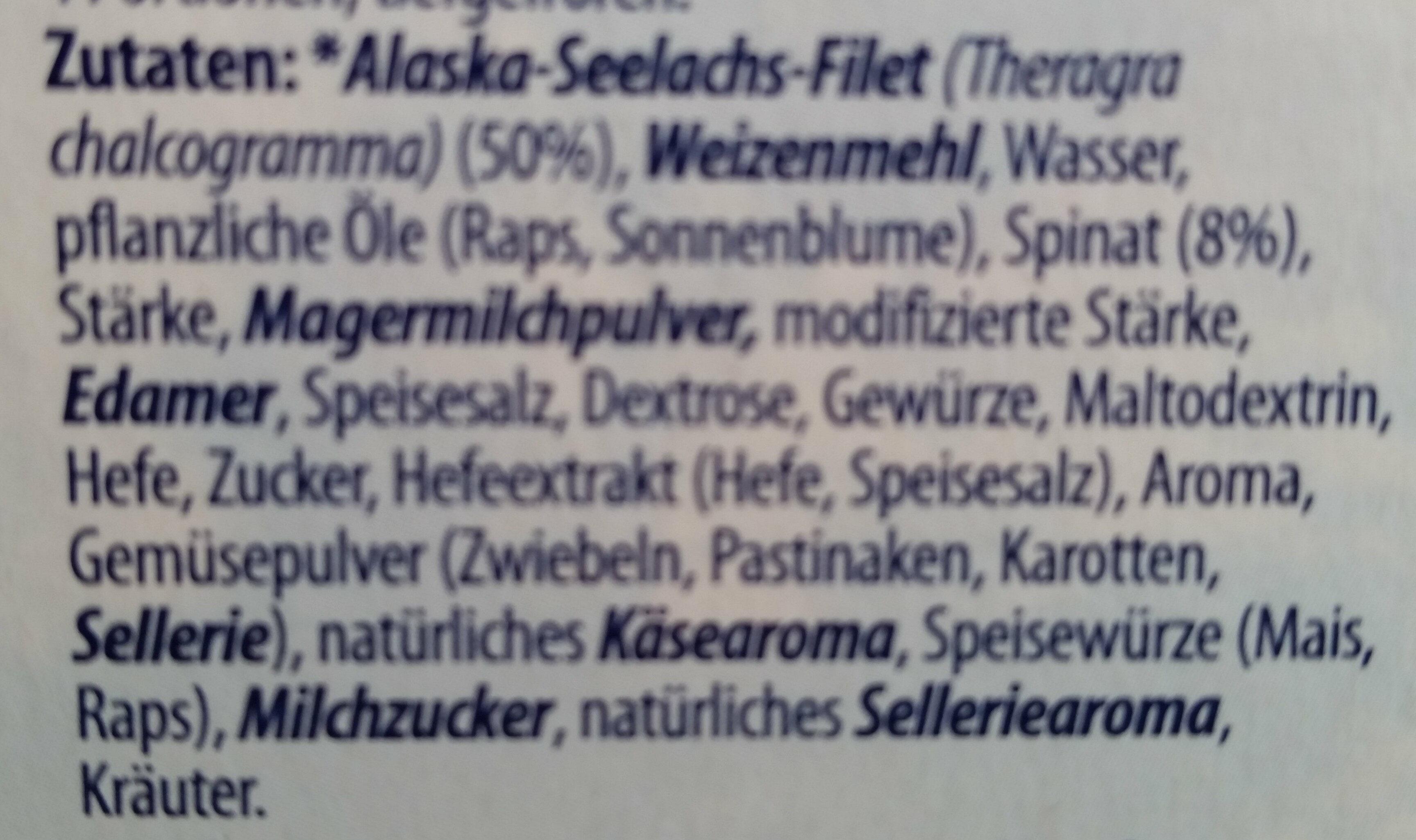 Knusper-Filet Spinat - Ingredients