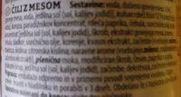 CHILI CON CARNE (ČILI Z MESOM) - Ingredients