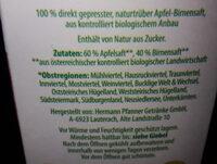 Apfel Birnen Saft - Ingredients - de
