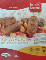 Cevapcici mit Letscho und Reis - Product - en