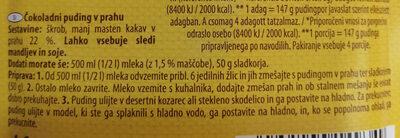 Čokoladni puding v prahu - Ingredients
