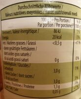 Tomates bio pelées - Nutrition facts - fr