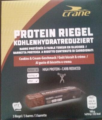 Proteinriegel kohlenhydratreduziert Cookies&Cream - Product