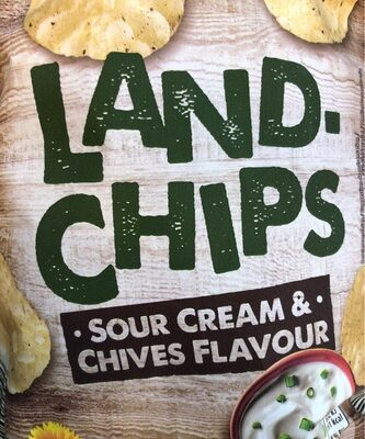 Land-chips Sour cream & Chives flavour - Product - fr