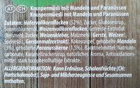 Knusper Müsli Mandel-Paranuss - Ingredients - de