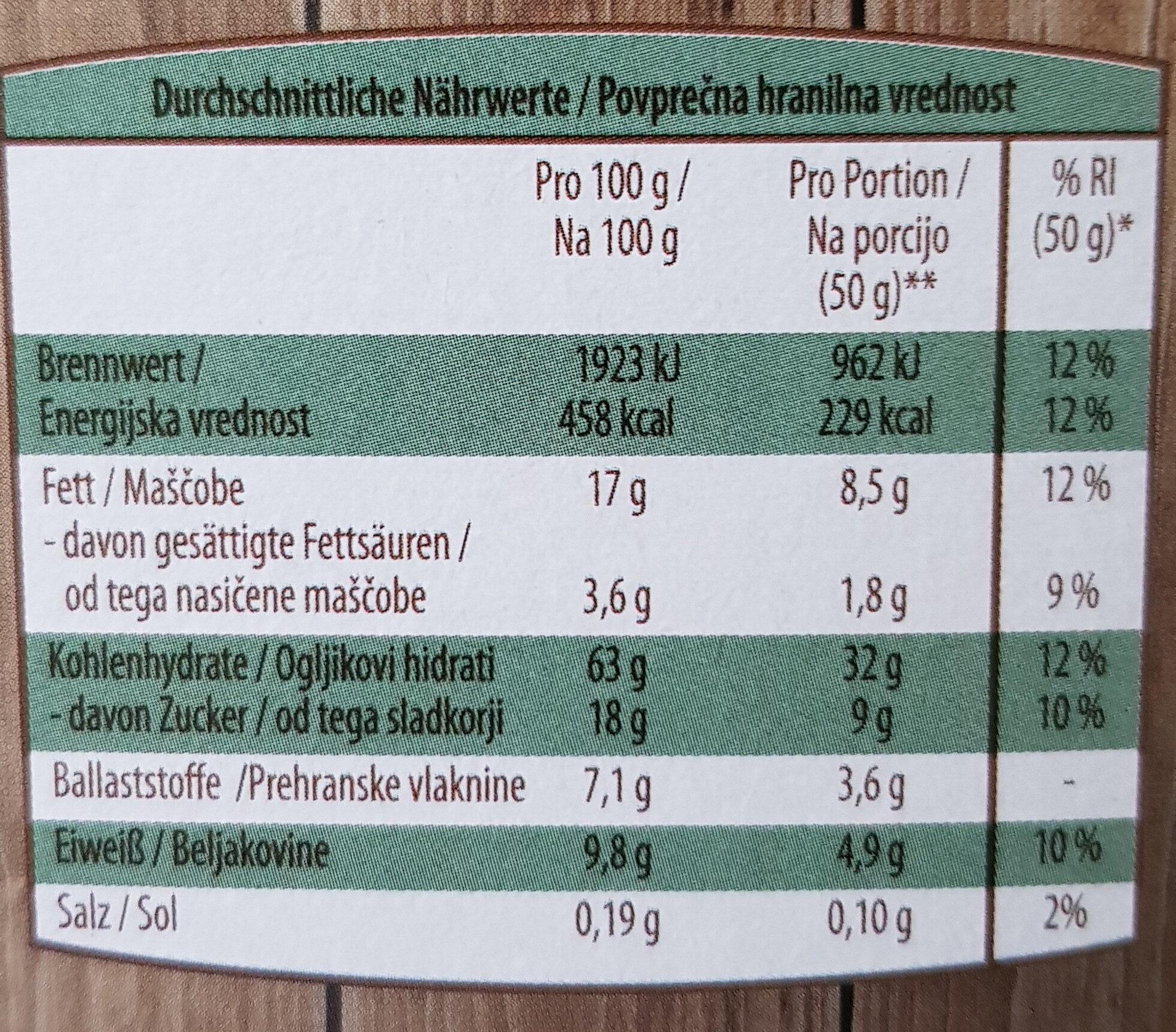 Knusper Müsli Mandel-Paranuss - Nutrition facts - de