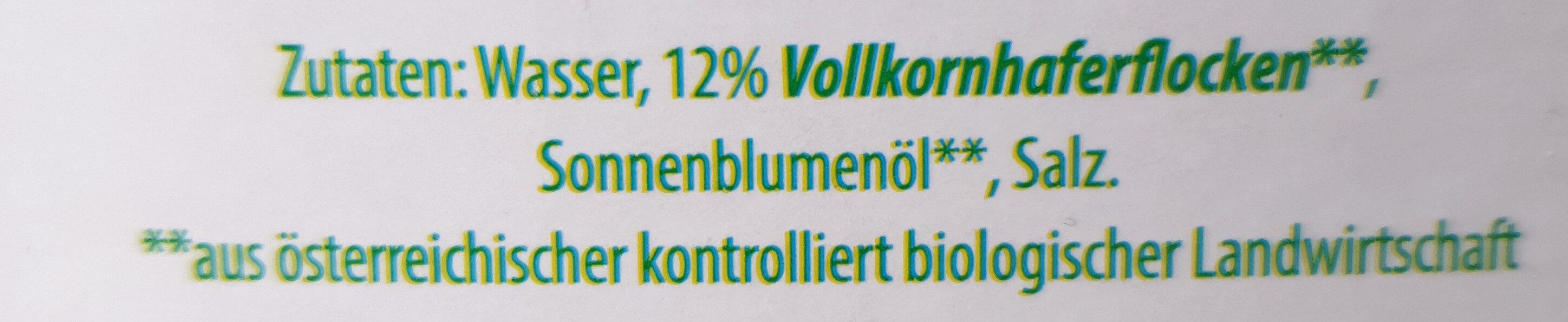 Hafer-Drink - Ingredients - de