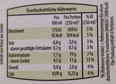 Hafer-Drink - Nutrition facts - de