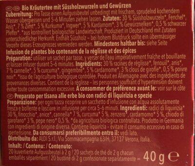 Chai me better - Informations nutritionnelles - fr
