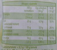 Feta - Voedingswaarden - hu