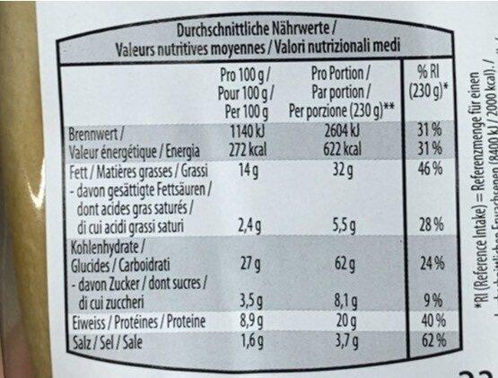Sandwich au poulet - Informations nutritionnelles - fr