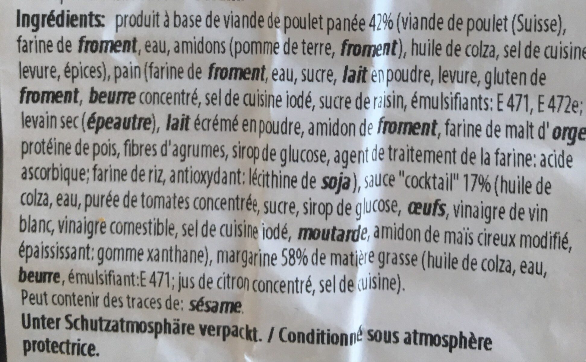 Sandwich Poulet Cocktail - Ingredienti - fr