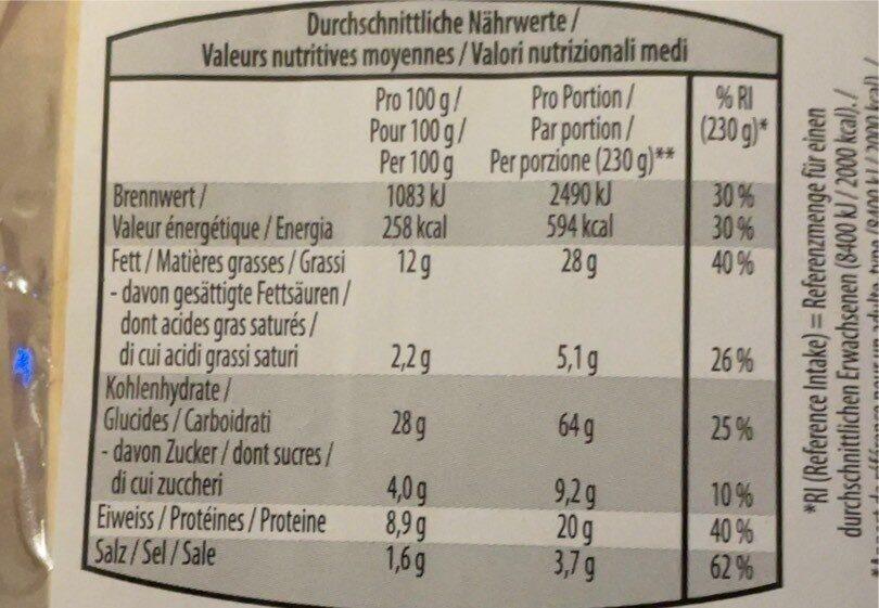 Sandwich Poulet Cocktail - Valori nutrizionali - fr