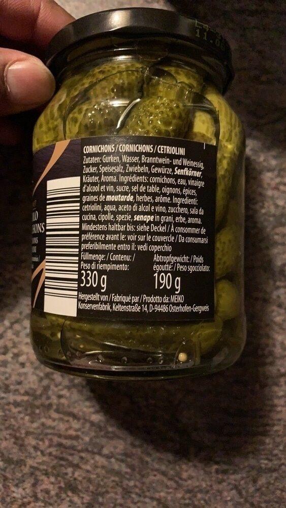 Piccolo cornichons - Ingredienti - fr