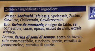 Moutarde forte - Ingredienti - fr