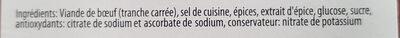 Viande séchée - Ingredienti - fr