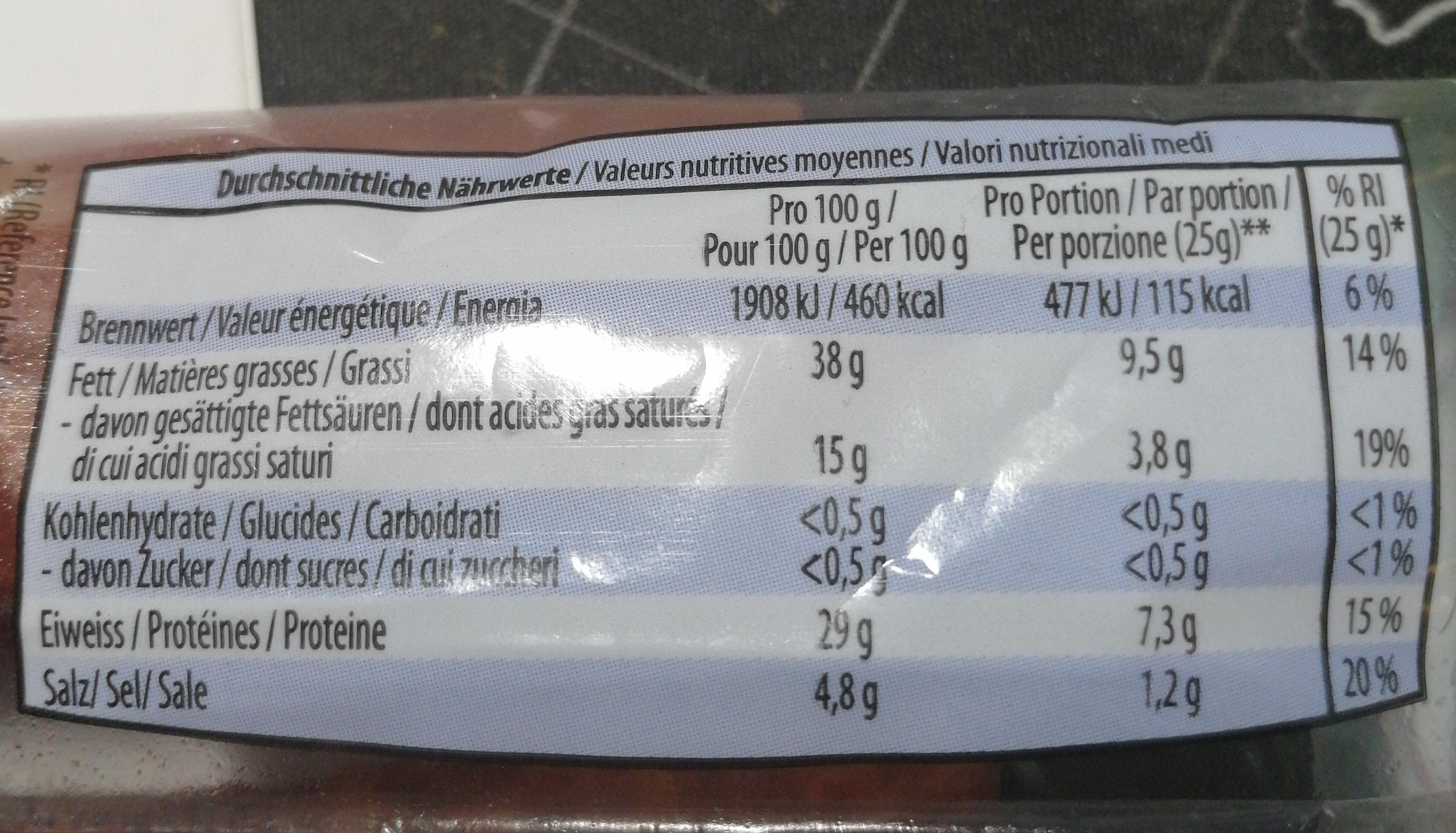Bergluft piquant - Ingredienti - fr