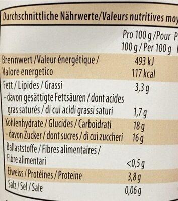 Joghurt Birchermüesli - Valori nutrizionali - fr
