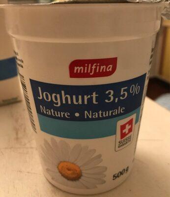 Joghurt 3.5 % Nature - Produit - fr