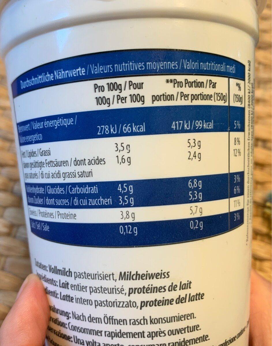 Joghurt 3.5 % Nature - Informations nutritionnelles - fr