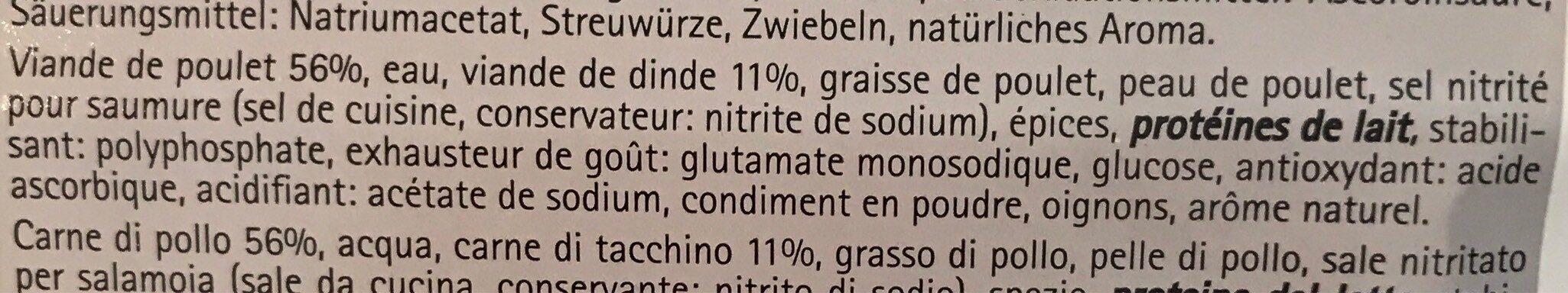 Fromage d'italie de volaille - Informations nutritionnelles - fr