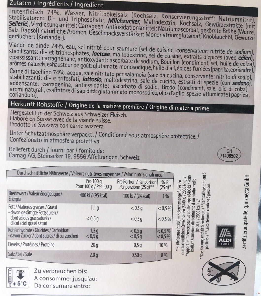 Schinken Barbecue - Informations nutritionnelles - fr