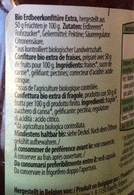Confiture bio extra de fraises - Ingredienti - fr