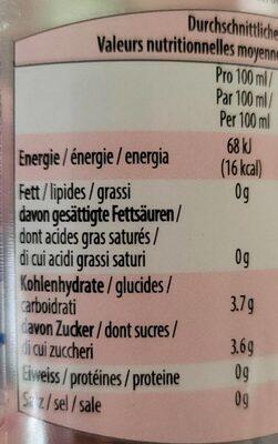 Schorle - Informations nutritionnelles - fr