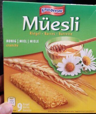Müesli barre miel - Prodotto - fr