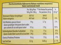 Müesli barre miel - Valori nutrizionali - fr