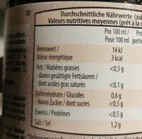 Bouillon de boeuf - Valori nutrizionali - fr
